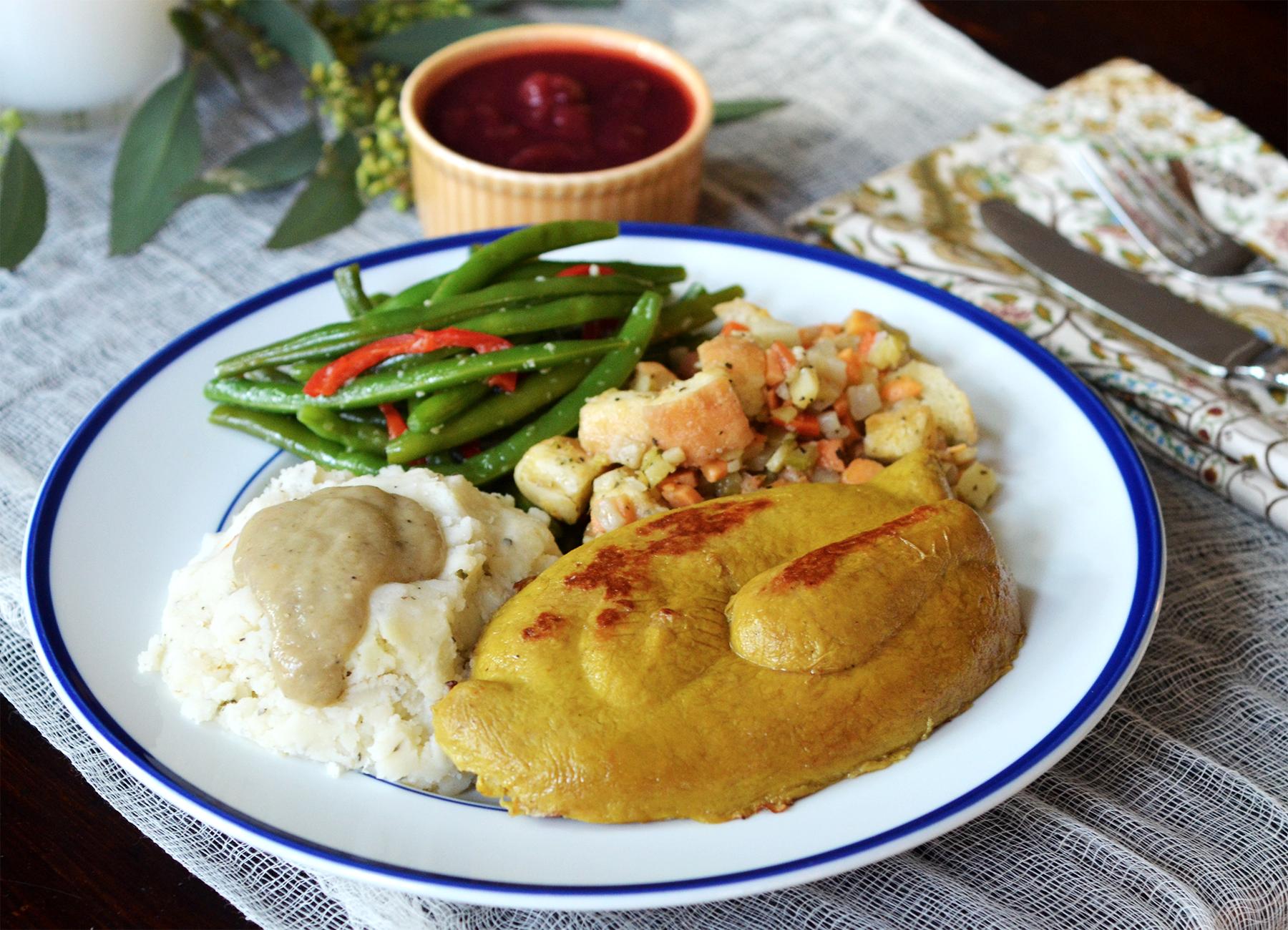 Vegan Thanksgiving Dinner for One