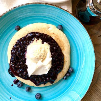 Vegan Brunch Blueberry Pancakes